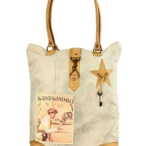 Vintage Addiction  Be Kind to Animals Canvas Tote